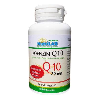 NutriLAB Koenzim Q10 (olaj formában) 30 mg  kapszulában 150X