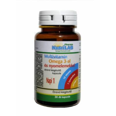 NutriLAB Multivitamin Omega 3-al kapszula 30X