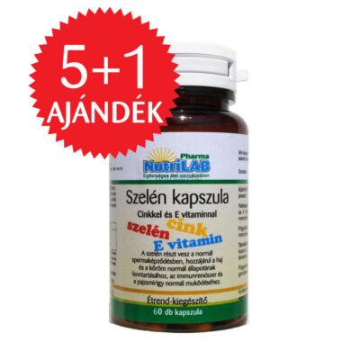 NutriLAB Szelén cinkkel és E-vitaminnal 60X 5 db + 1 ajándékba