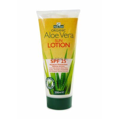 Optima Aloe Vera fényvédő testápoló SPF 25 200 ml