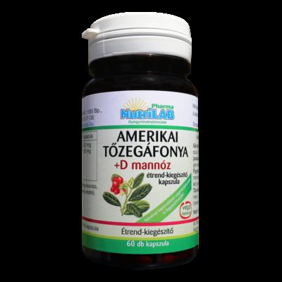 NutriLAB Amerikai tőzegáfonya +D mannóz vega 60X